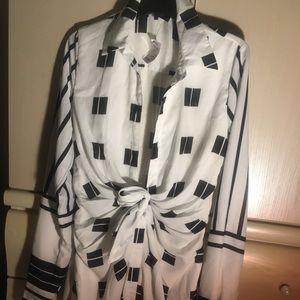 Geometric mood mini dress